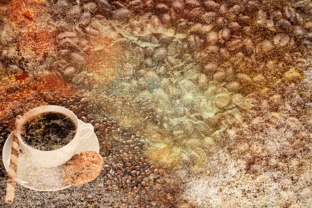 abstract vintage paper coffee motives Stock Photo - 8212076
