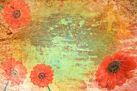 abstract vintage paper with flower motives photo