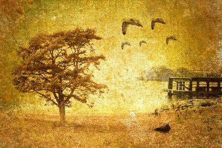 abstract vintage landscape photo