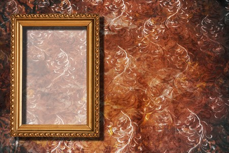 rusty wooden frames on abstract background Stock Photo