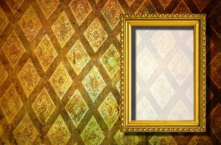 rusty wooden frame on abstract background photo