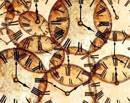 abstract vintage clock background Stock Photo