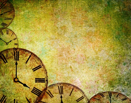 abstract vintage clock background Stock Photo - 8369232