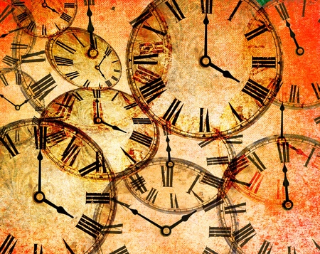 abstract vintage clock background Stock Photo - 8369231