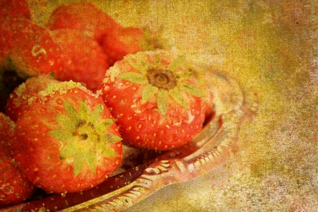 abstract vintage strawberry motive Stock Photo - 8512237