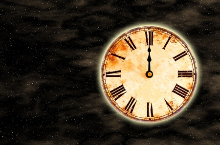 time and space, twelve o'clock Stock Photo - 8512228