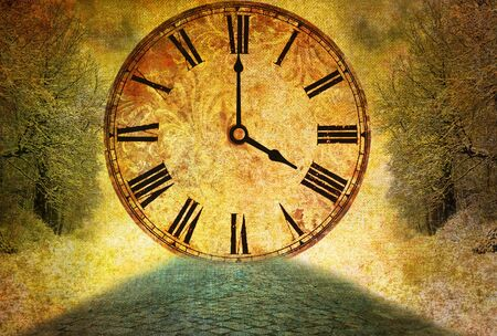 time passing, abstract vintage motive