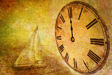 winder: time passing, abstract vintage motive