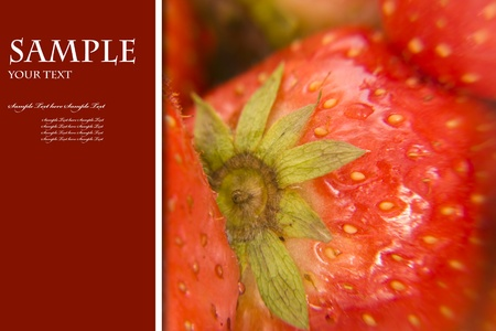 strawberry, can be use for valentine card Stock Photo - 8529677