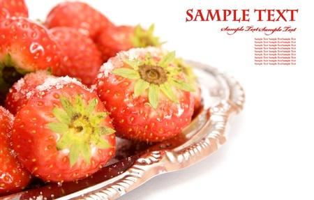 sweet juicy strawberry on white Stock Photo - 8548662