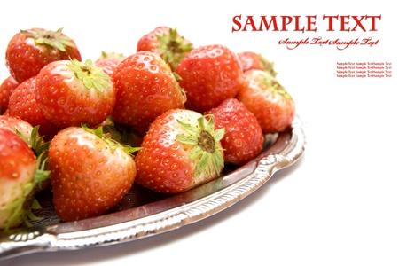 sweet juicy strawberry on white Stock Photo - 8529676
