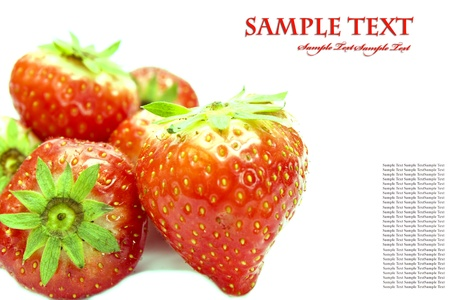 sweet juicy strawberry on white Stock Photo - 8529680