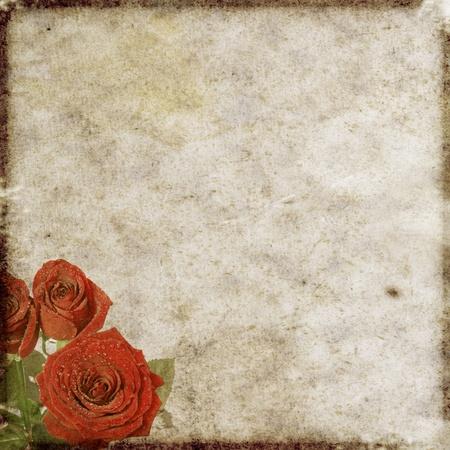 vintage floral background photo