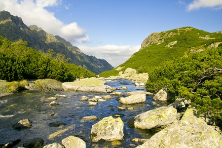 tatry: beautiful high mountains view, tatry in poland