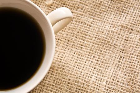 coffee on burlap Stock Photo - 11007290
