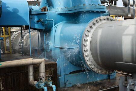 water leak from main piping Zdjęcie Seryjne
