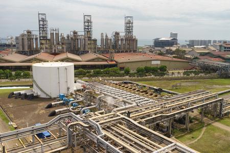 landscape of refinery plant