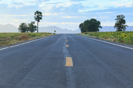 Long road to mountain