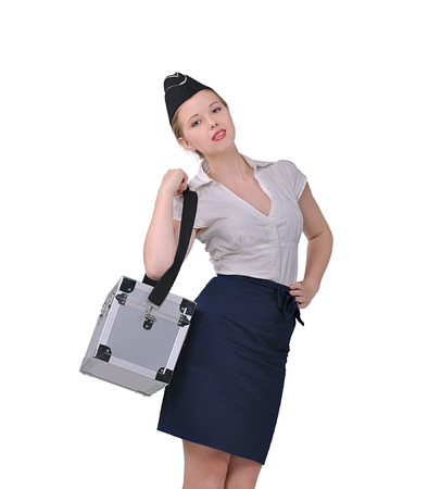 Stewardess in a working form of clothing photo