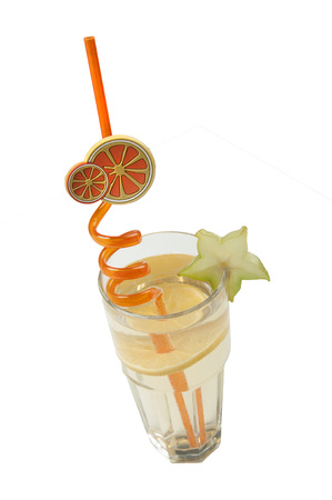 tubule: Cocktail decorate by tubule with orange and carom