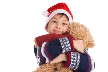 Boy and his bear photo