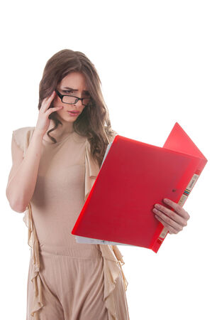 Business Woman with document case