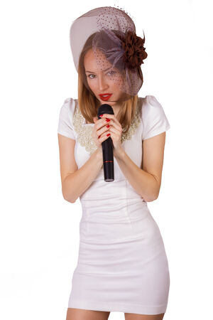 Young female singing