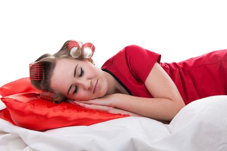 girl sleeps Фото со стока
