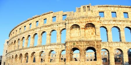 roman amphitheatre: Anfiteatro romano en Pula