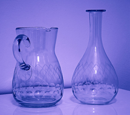carafe and bottle Stok Fotoğraf