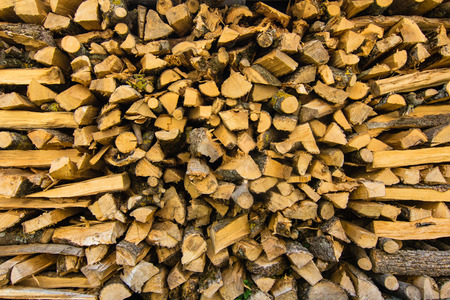 stack of brown firewood logs