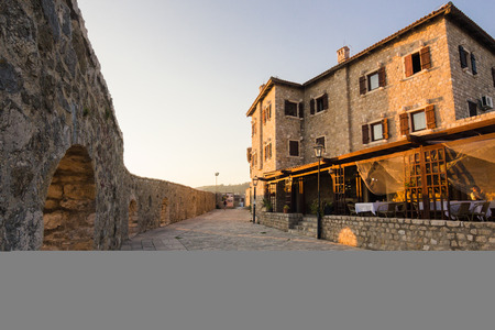 kotor: Stone houses in small old town in Monteegro