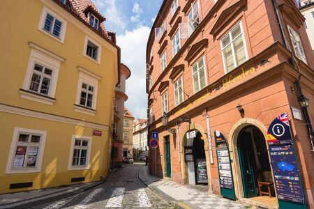 praha: Empty street of Praha, Czech republic