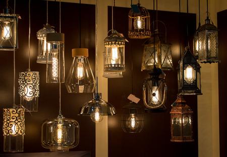 beautiful retro vintage style luxury interior lighting lamp decor Foto de archivo