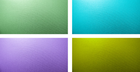 metallized: set of four textured  backgrounds: blue, purple, green, yellow-green