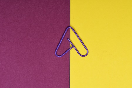 decorative office supplies. Colour Decorative Paper Clip With Heart Sign On Colorful Background, Office  Supplies Stock Photo - E