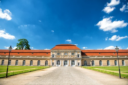 Charlottenburg palace and garden in Berlin, Germany. historical museum Фото со стока
