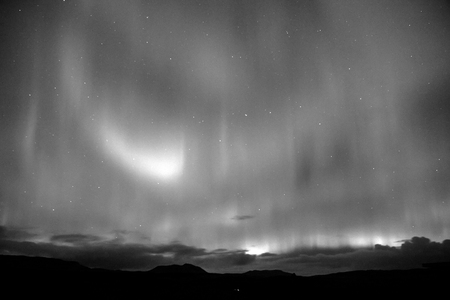 Northern Light in Iceland aurora Фото со стока