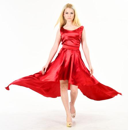 Dress Rent Service Fashion Industry Woman Wears Elegant Evening