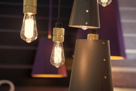 Old style  lamps retro and vintage