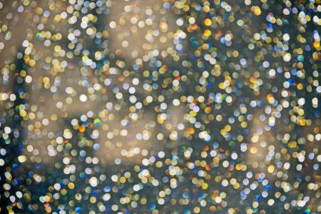 Abstract colorful Bokeh circles for Christmas