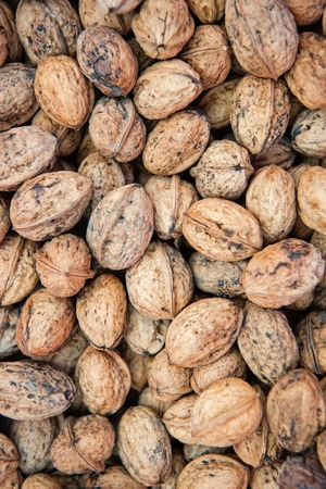 walnut background or texture, healthy food with a lot of vitamins. nutrition