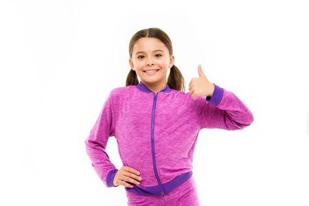 This is awesome. Girl cute child show thumbs up gesture. Gifts your teens will totally love. Kid show thumbs up. Girl happy totally in love fond of or highly recommend. Thumbs up approvement.