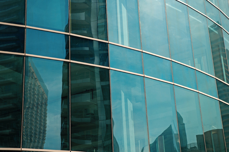 Glass facade panels of office building, architecture background. Construction, structure, house, property. Architecture, design decor exterior Business finance commerce Stock fotó