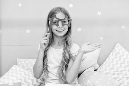 be a star. small happy girl wants to be a star. small happy girl. funky girl. Stockfoto