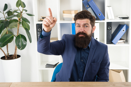 Business analyst. Great idea. Modern businessman. Male fashion in business office. Bearded man analyst. Mature hipster with beard. Confident brutal man analyst. Businessman in suit. Man analyst.