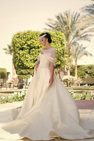 robe de mariée. belle robe de mariée pour jolie mariée. femme en robe de mariée. jour de mariage pour femme en robe. Choix incroyable Banque d'images
