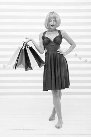 happy woman go shopping. Last preparations. big sale in mall. Crazy girl with shopping bags. Fashion. Black Friday sales. Happy shopping online. Happy holidays. After shopping.