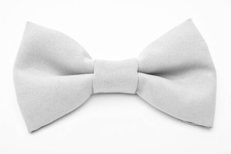 Wedding accessories. Fashion accessory. Esthete detail. Fix bow tie. Groom wedding. Tying bow tie. Textile fabric bow close up. Modern formal style. Menswear clothes. Perfect outfit