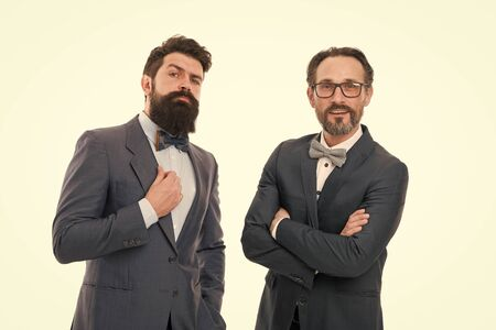 Glad to work with you. Bearded men. Mature hipsters with beard. Confident brutal men. Business. Modern businessmen. Formal businessmen. Man. Male in business office. Confident and successful team